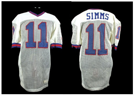 1984 85 Phil Simms Game Worn New York Giants Jersey