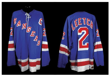 3600d4f68 1999 Brian Leetch s Game Worn Rangers Jersey From Wayne Gretzky s Final NHL  Assist   Point