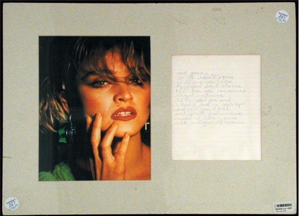 Music Autographs - auction