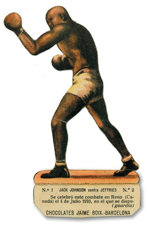 1920s Jack Johnson Die-Cut Spanish Boxing Card