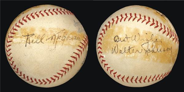 Autographed Baseballs - December 2003