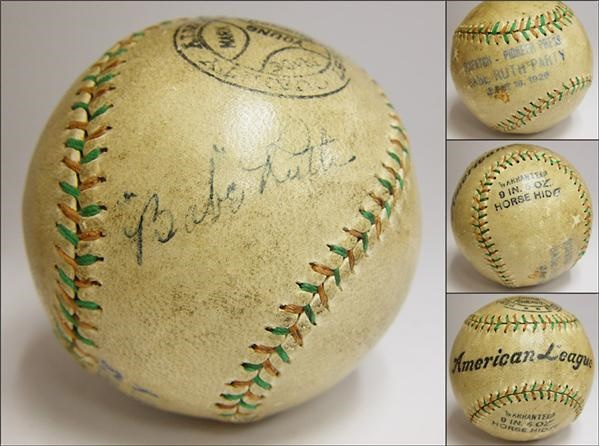 Babe Ruth - auction