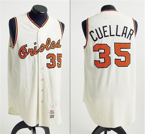 4a66294aa 1969 Mike Cuellar Autographed Game Worn Jersey. Baltimore Orioles - auction