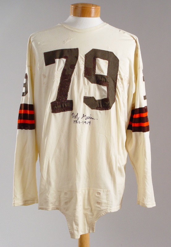 Late 1950 s Bob Gain Autographed Game Worn Cleveland Browns Jersey 96f53dad9