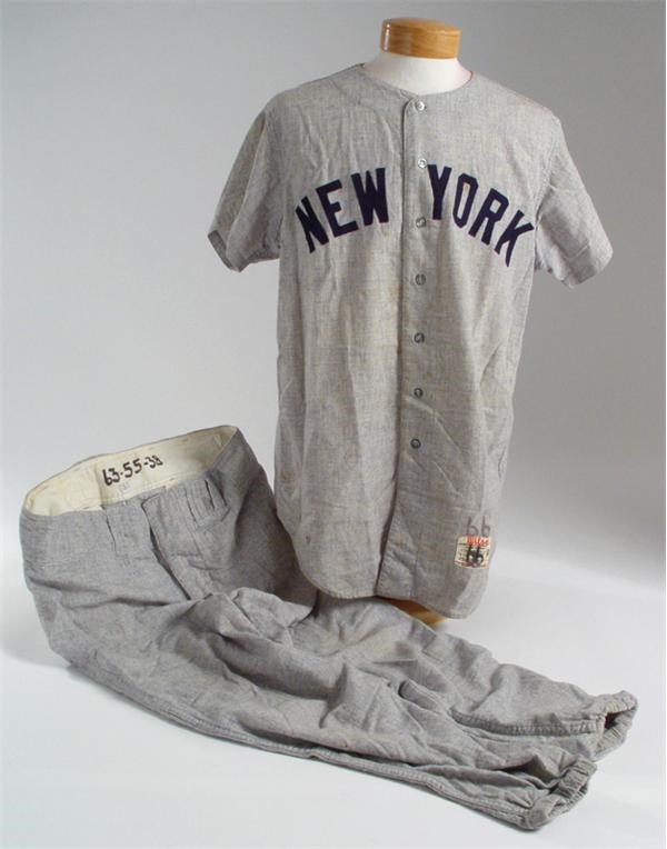 b9f757df83dc 1966 Ralph Houk Road Yankees Complete Uniform with Home Pants