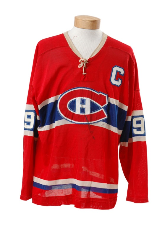 Rocket Richard Montreal Canadiens Photo Matched Game Worn Jersey 1d865336f