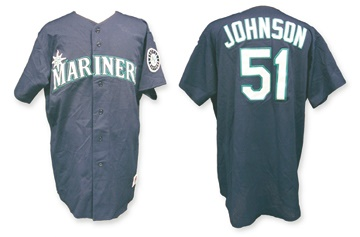 Game Used Baseball Jerseys and Equipment - April 2001