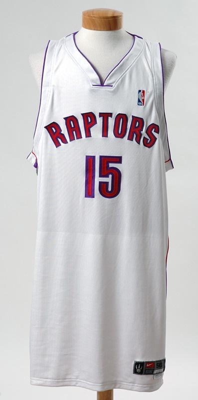 113c7608e20c 2003-04 Vince Carter Raptors Game Worn Jersey