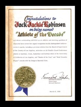 Jackie Robinson - April 2001