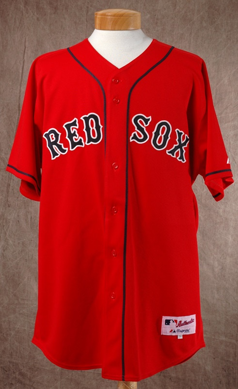 b17214838 2005 Kevin Millar Game Worn Red Sox Home Alternate Jersey