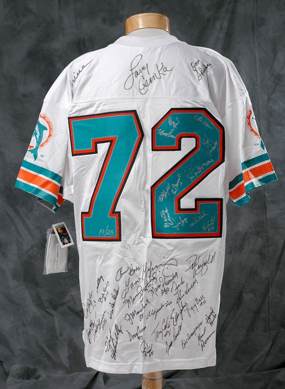 1972 Miami Dolphins Team Signed Jersey  for cheap