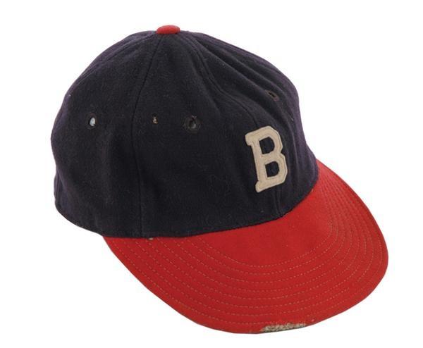 Warren Spahn Game Worn Boston Braves Cap 3f1a572da41