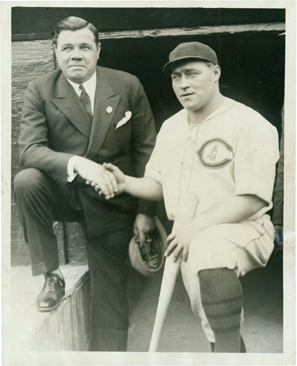 Babe Ruth and Hack Wilson at the 1929 World Series