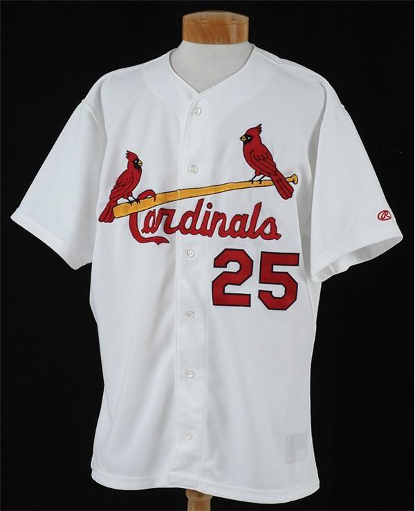 best service 1a32c 70de4 2001 Mark McGwire Game Worn St. Louis Cardinals Jersey