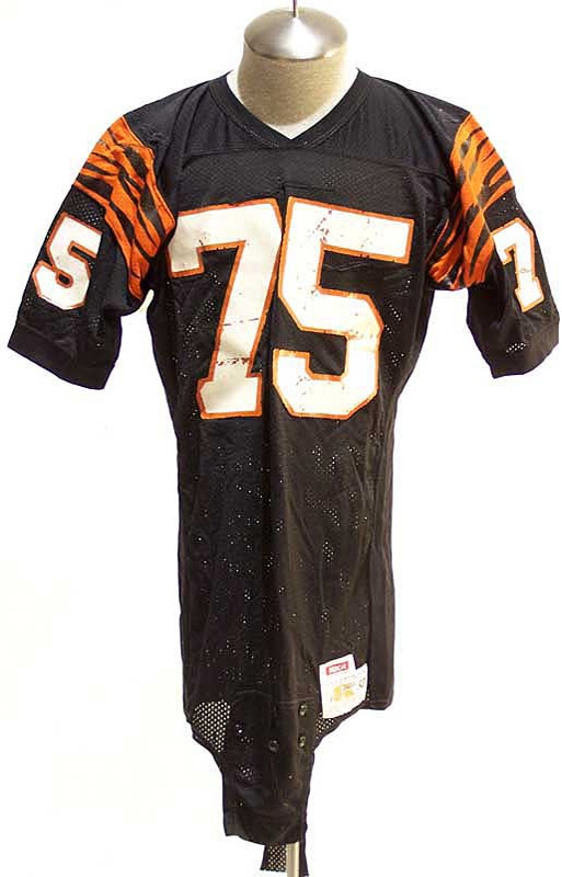197080s Isaac Curtis Cincinnati Bengals Game Worn Football Jersey