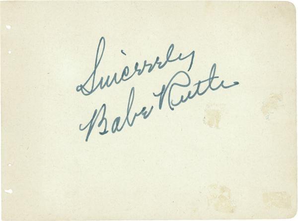 Babe Ruth - April 2007 Catalog