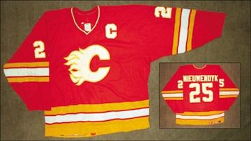 cab81797d 1993-94 Joe Nieuwendyk Calgary Flames Game Worn Jersey