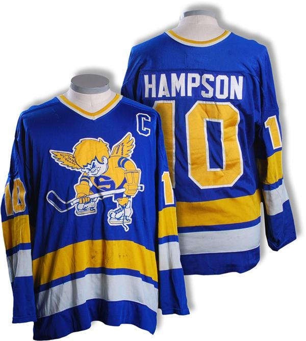 839d80bb2 1975-76 Ted Hampson Minnesota Fighting Saints WHA Game Worn Jersey