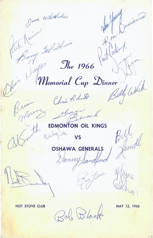 Hockey Autographs - May 2008 Catalog