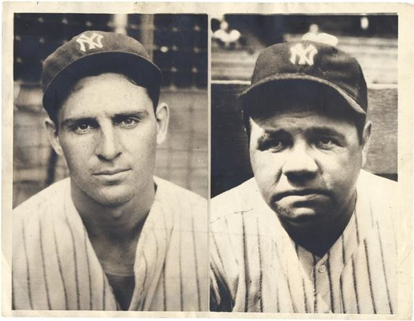 Babe Ruth and Lou Gehrig - auction