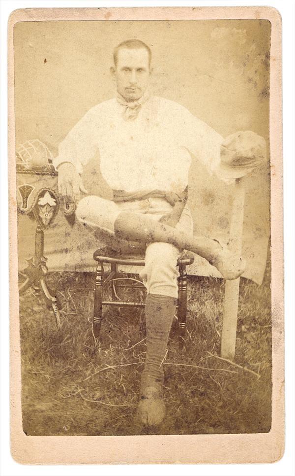 Albert Mowney 1870s Baseball Carte De Visite