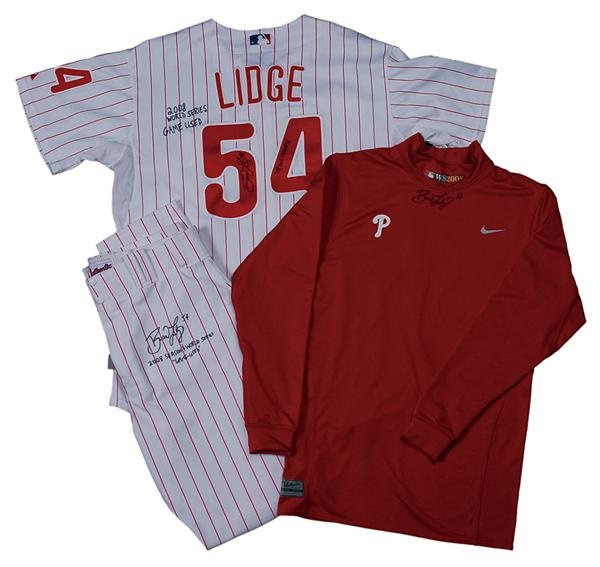 2008 Brad Lidge Philadelphia Phillies Game Worn Photo-Matched World Series  Jersey 795cf9f06a6