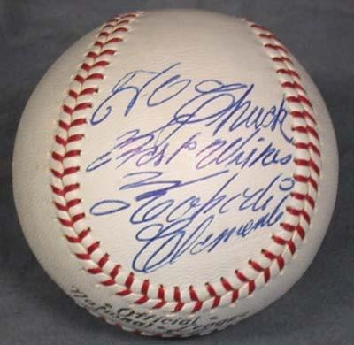 Autographed Baseballs - December 2001