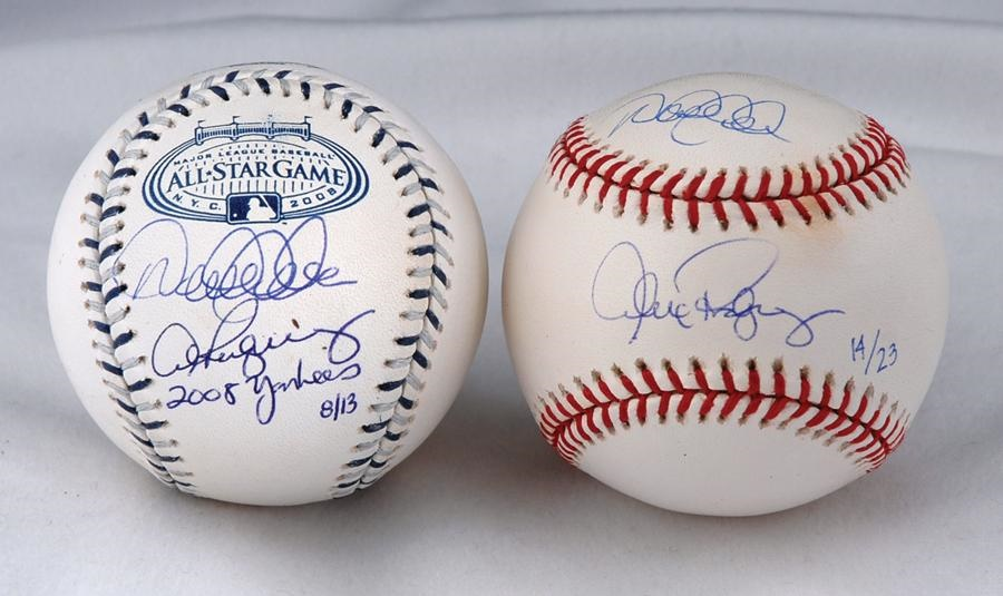 af1a5af4c 2 Limited Edition Derek Jeter and Alex Rodriquez Signed Baseballs. Baseball  Autographs ...