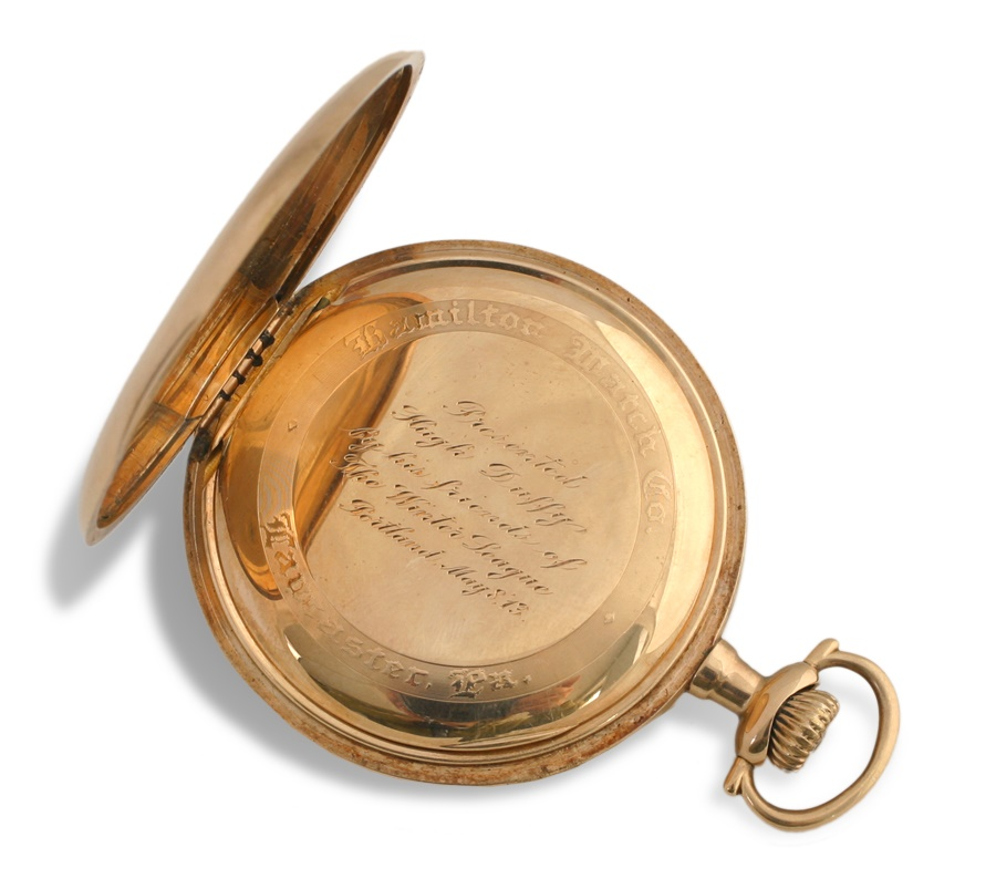 1913 Hugh Duffy 14K Gold Pocket Watch