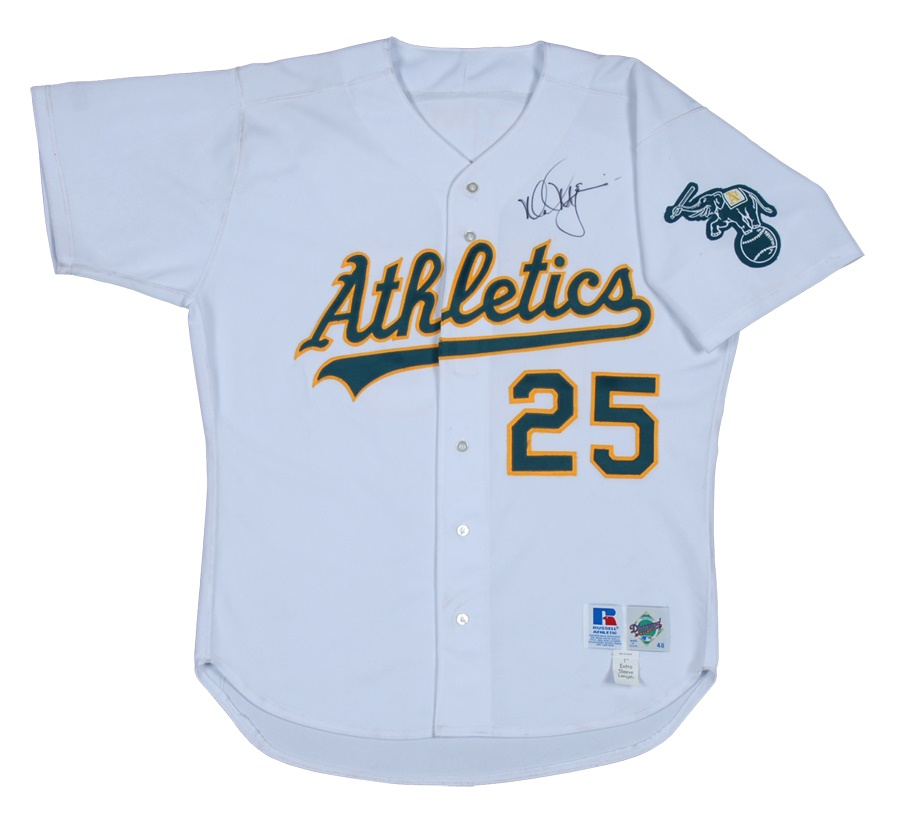798dd25af6d Circa 1996 Mark McGwire Oakland Athletics Signed Game Used Jersey