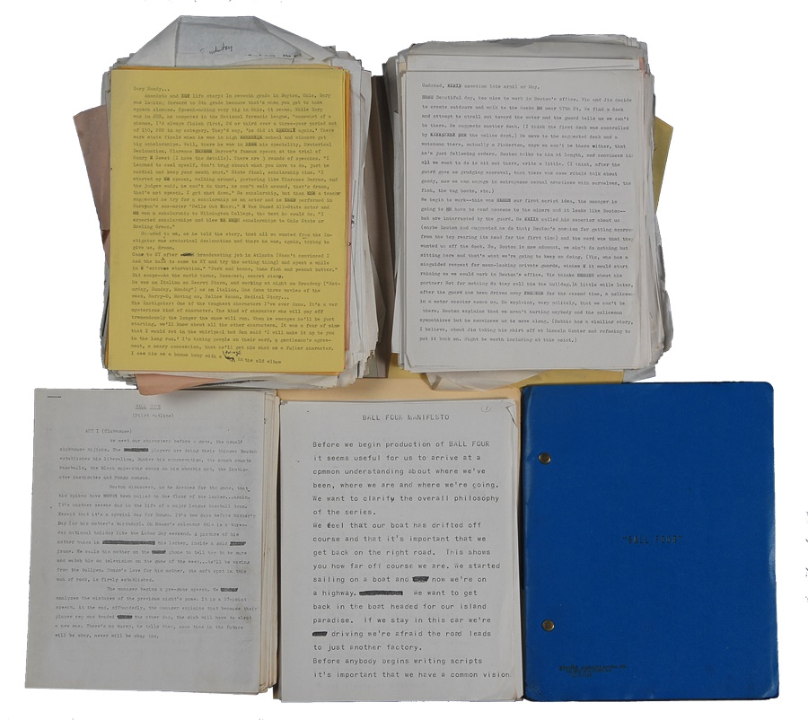 Original Scripts and Notes for the Television Series
