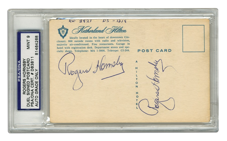 Baseball Autographs - Spring 2012 Catalog Auction