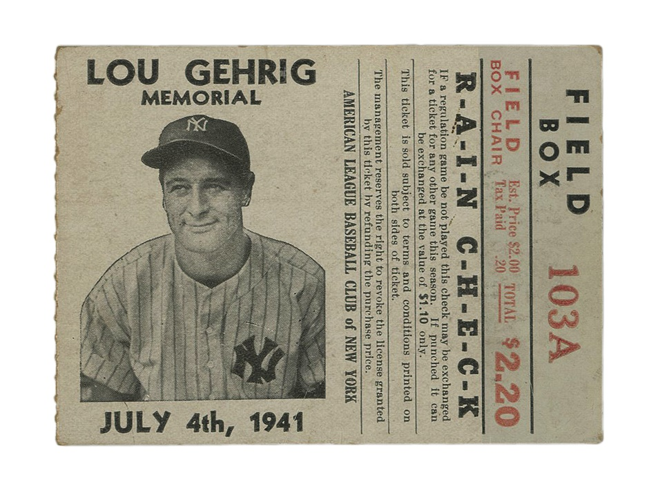 Ruth and Gehrig - Fall 2012 Catalog Auction