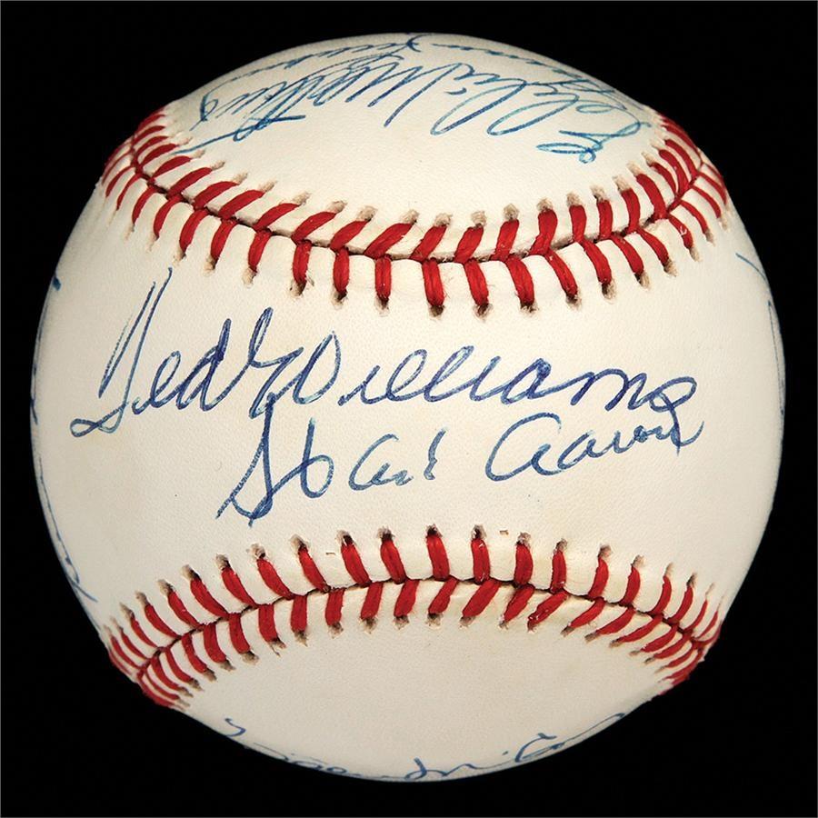 Baseball Autographs - Spring 2013 Catalog Auction
