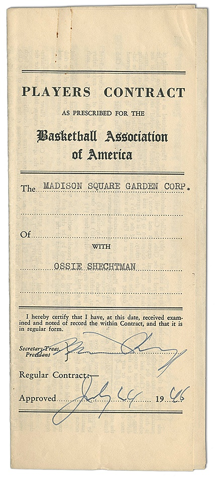 The Ossie Schectman Collection - Spring 2013 Catalog Auction