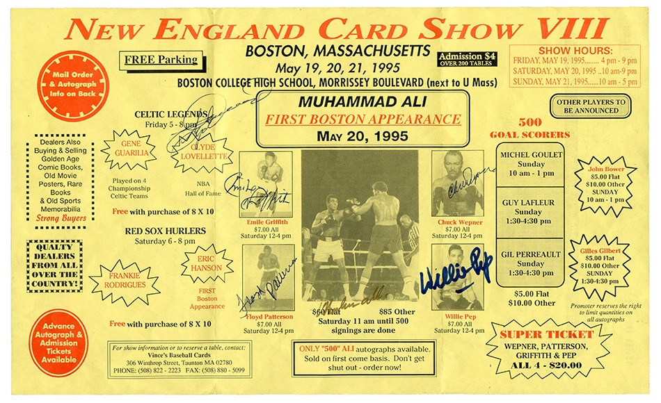 Muhammad Ali & Boxing - Summer 2015 Catalog Auction