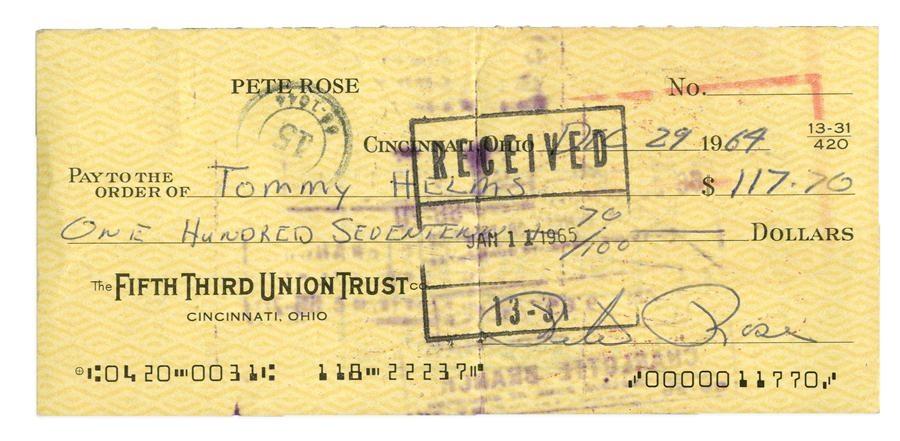 Pete Rose & Cincinnati Reds - Winter 2015 Catalog Auction