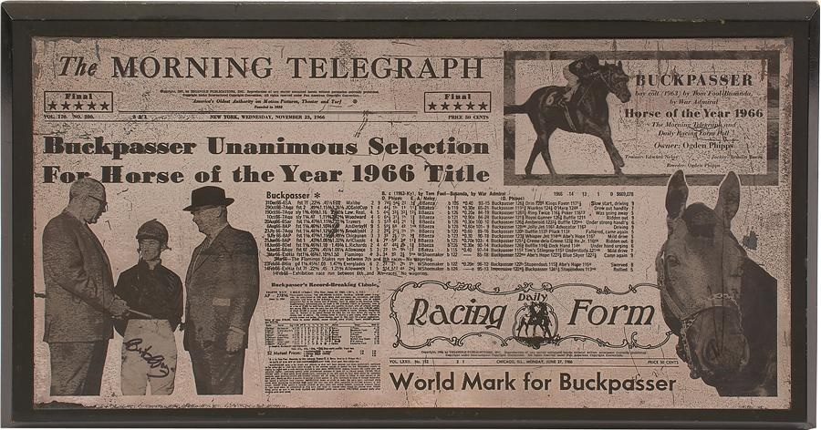 The Braulio Baeza Collection of Horse Racing Memor - Winter 2015 Catalog Auction