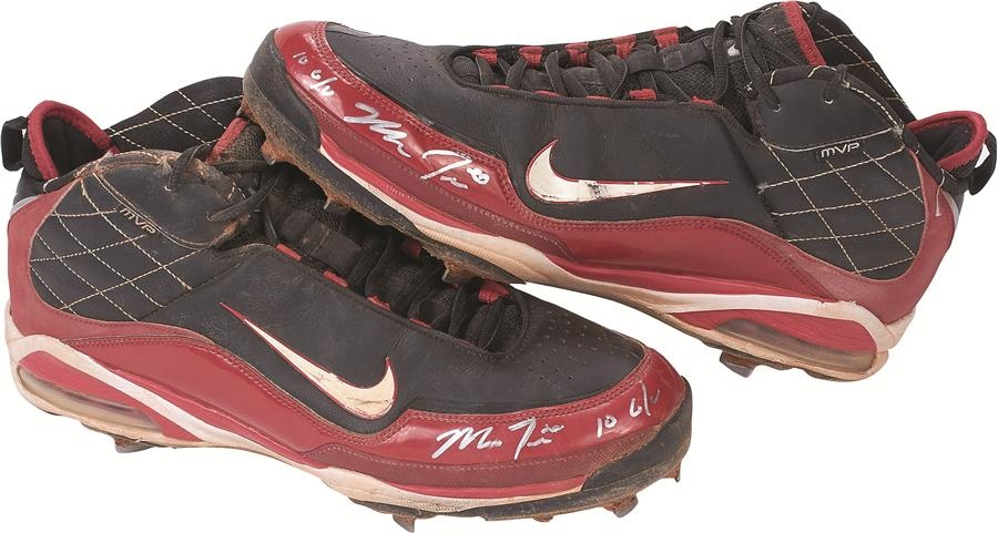 57d0a766a297 2010 Mike Trout Game Worn Nike Cleats Signed, Inscribed