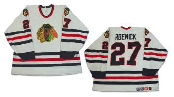 1993-94 Jeremy Roenick Chicago Blackhawks Game Worn Jersey c98d6a19c