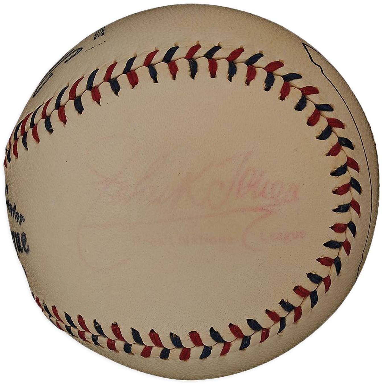 Official National League Baseball with John K. Tener as President