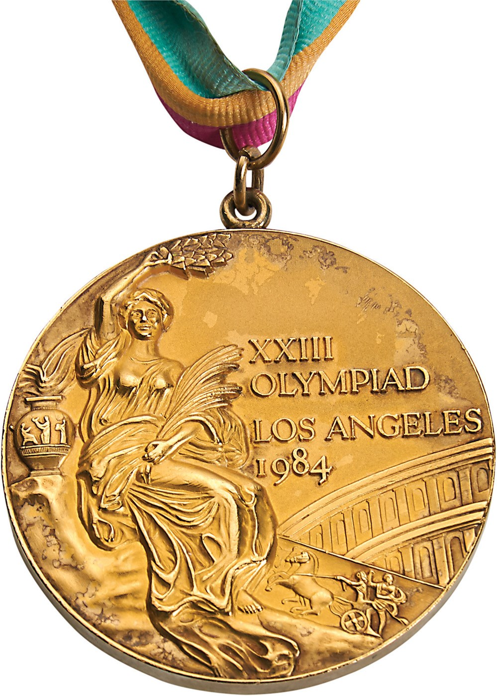 aadd4c9729a 1984 Los Angeles Olympics USA Basketball Gold Medal Presented to Teresa  Edwards
