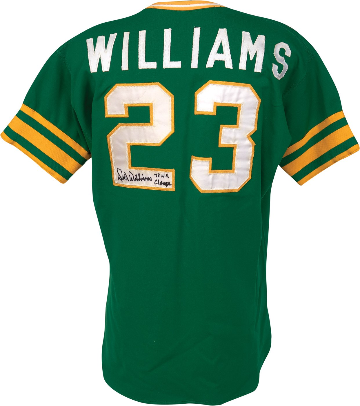 c8679cf9c66 1973 Dick Williams World Champion Oakland A s Game Worn Jersey