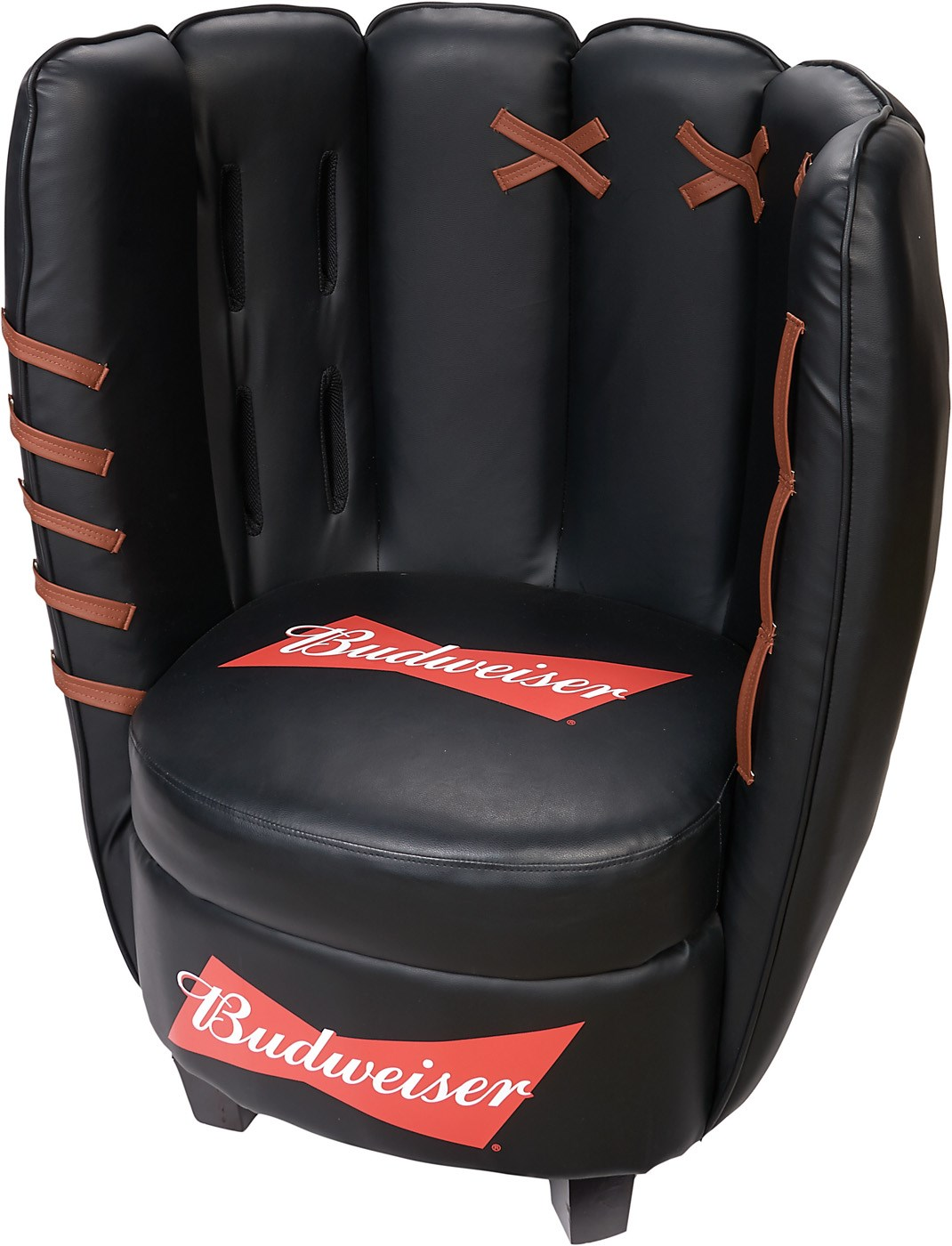 Budweiser Beer Giant Leather Baseball Glove Chair