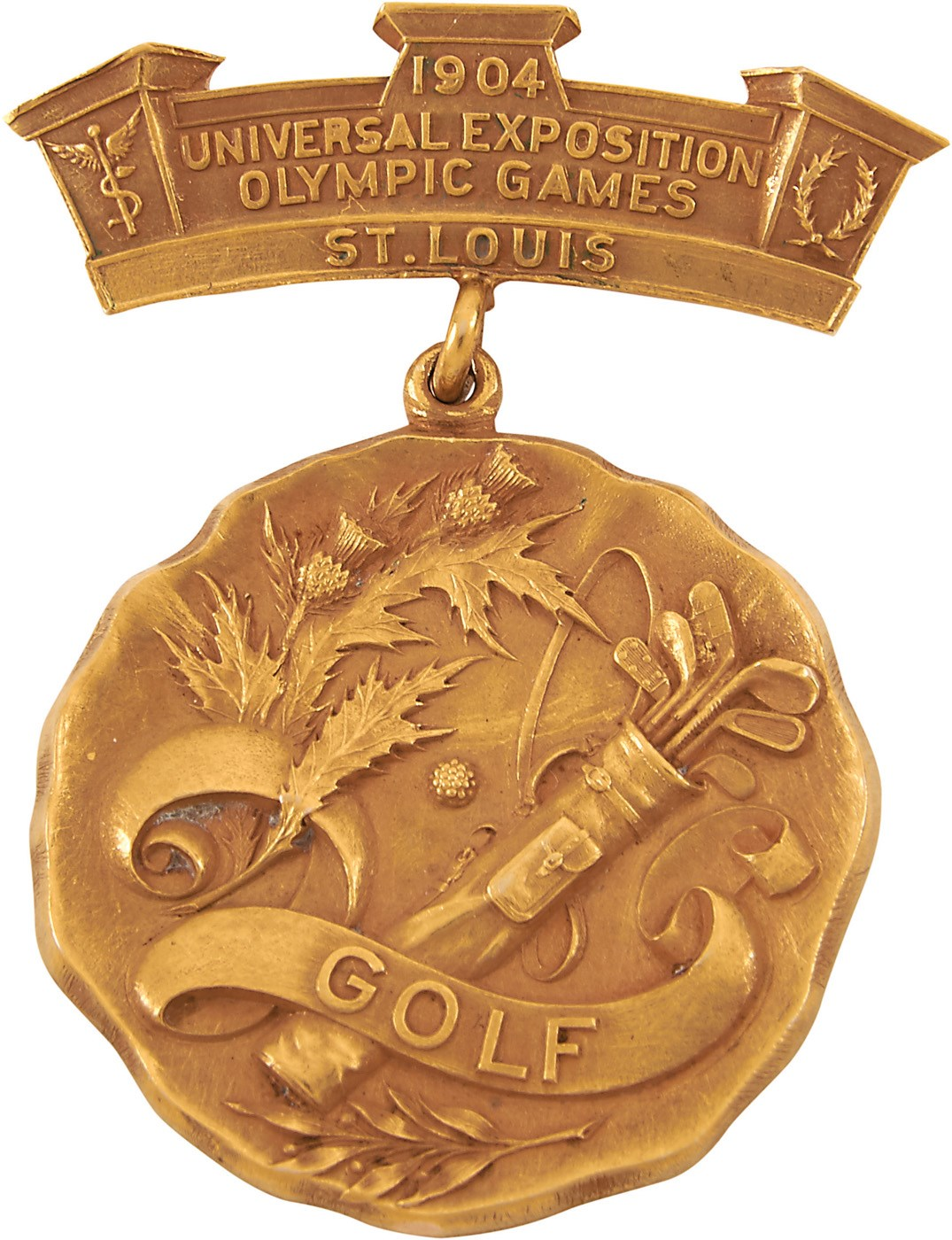 1904 Olympic Gold Medal for Golf Presented to Chandler Egan