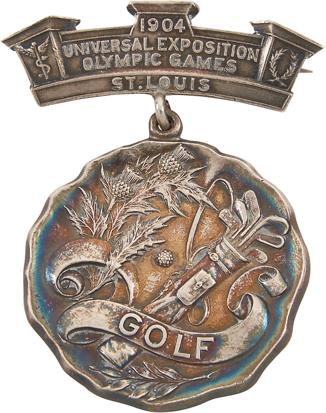1904 Olympic Silver Medal for Golf Presented to Chandler Egan