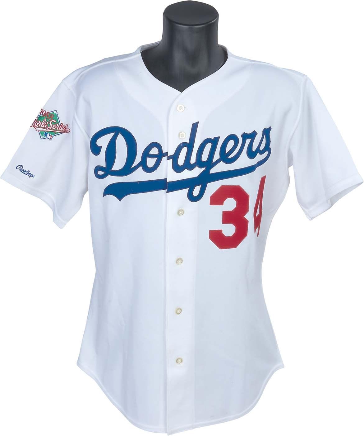 ca1d04ab7 1988 World Series Champion Fernando Valenzuela Game Worn Dodgers Jersey