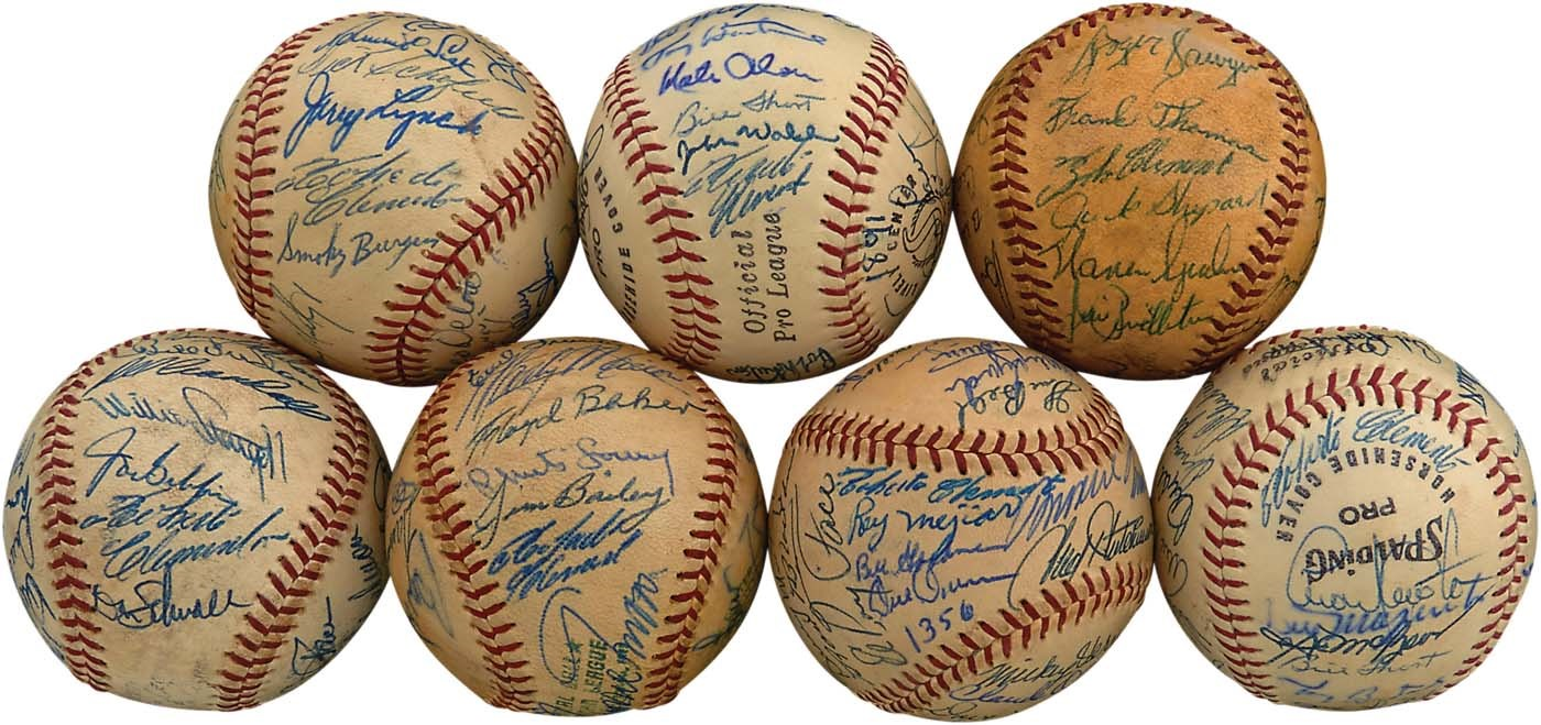 The John O'connor Signed Baseball Collection - Masters17