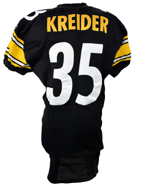 2001 Season Dan Kreider Pittsburgh Steelers AFC Championship Game Worn  Jersey (Photo-Matched 187bbc15f