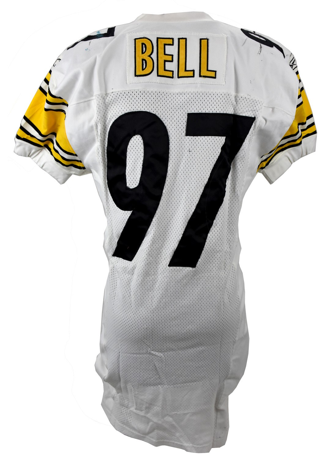 2001 Kendrell Bell Pittsburgh Steelers Rookie Season Game Worn Jersey  (Photo-Matched 753026b08